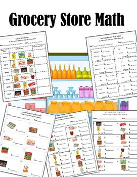 Grocery Store Menu Math | Menu Math | Money worksheets ...