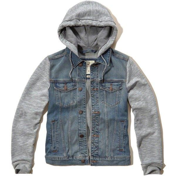 hollister denim jacket mens