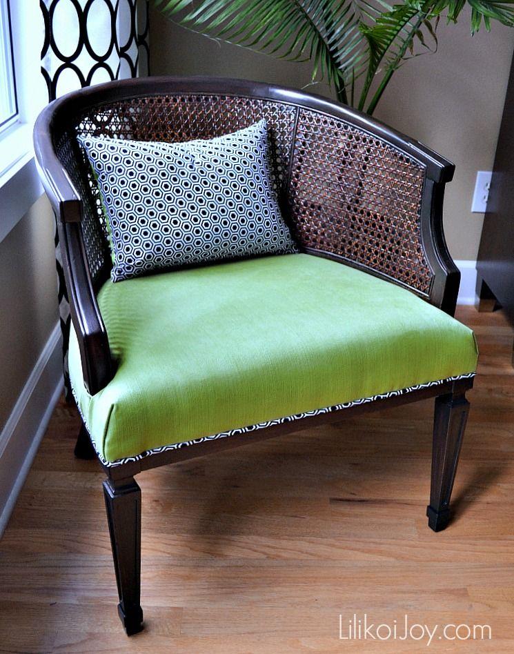Lilikoi Joy Hey Foxy Lady A Barrel Cane Chair Makeover Cane Dining Chairs Cane Chair Makeover Chair Makeover
