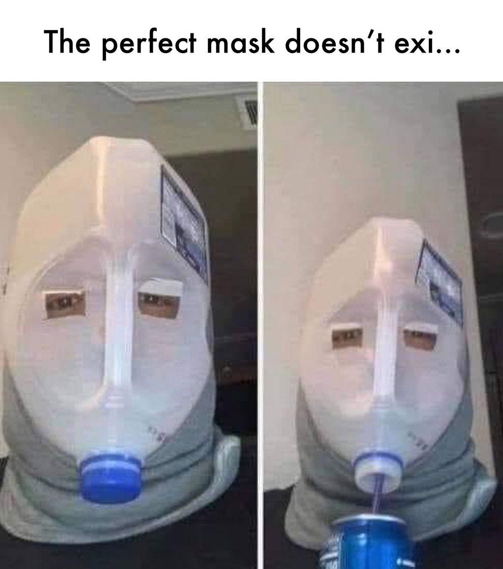 Improvise Overcome Adapt Funny Mask Funny Memes Funny Face Mask