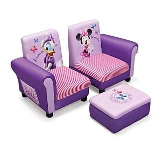 minnie mouse furniture for toddlers | Delta Childrens -Disney - Minnie Mouse 3 PC Upholstered