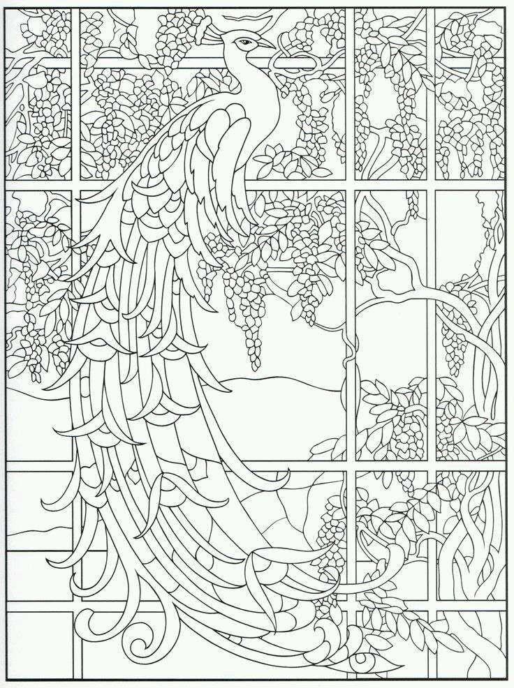 Раскраска антистресс - павлин в окне | Zentangles | Pinterest ...
