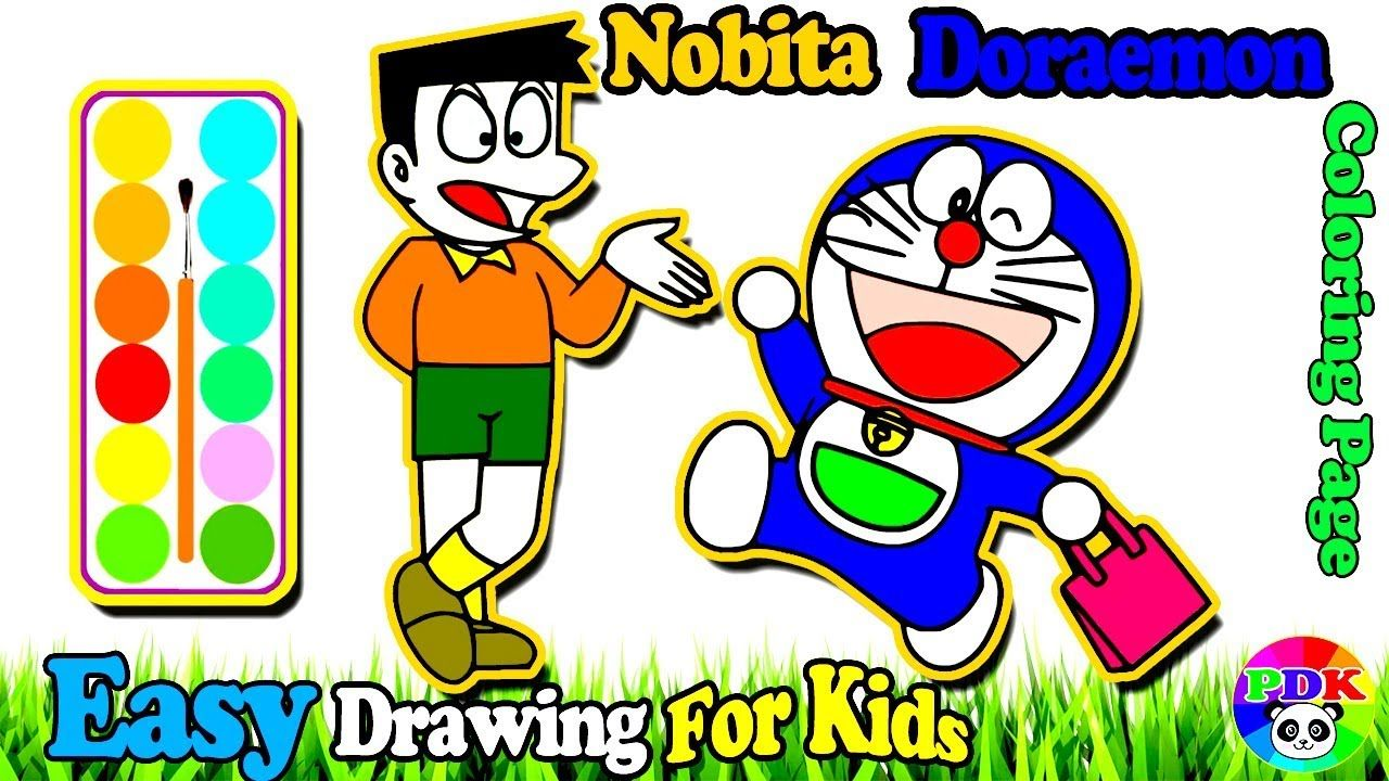 Today I M Going To Show You About How To Draw Doraemon Nobita Shopping Learn Colors For Toddlers Painti Abc Coloring Pages Learning Colors Toddler Painting