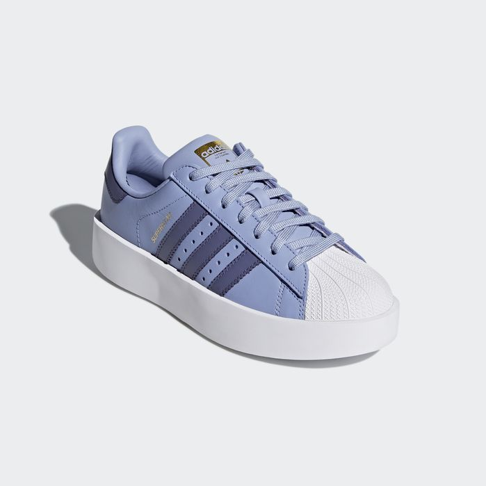 14075d2773f Superstar Bold Platform Shoes Chalk Blue 6.5 Womens
