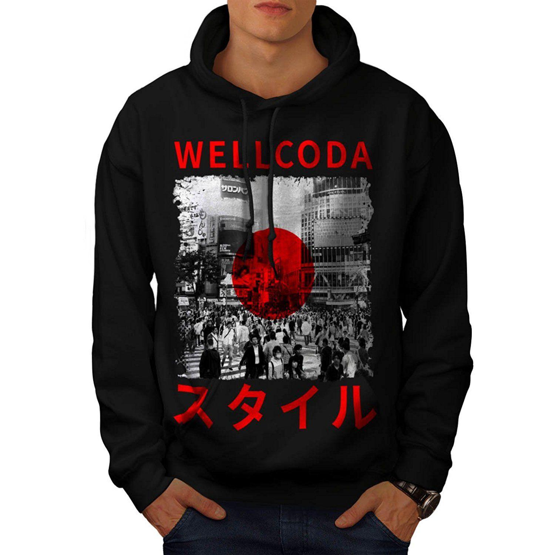 amazon com japan style flag japanese flag men new l hoodie