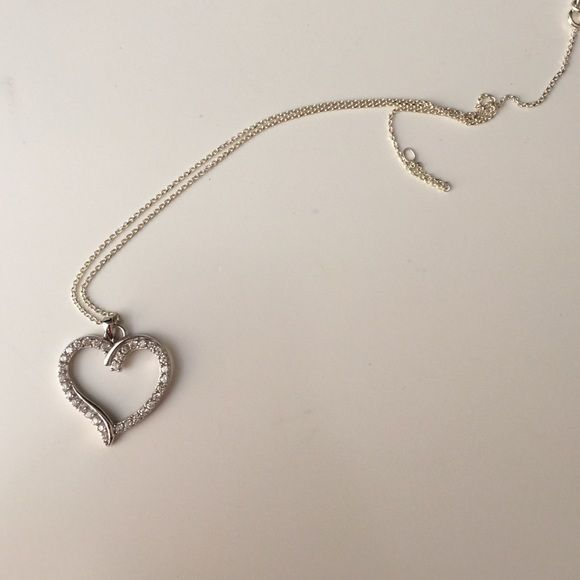 Heart necklace Sterling silver heart necklace. Never worn before. Make me an offer! Jewelry Necklaces