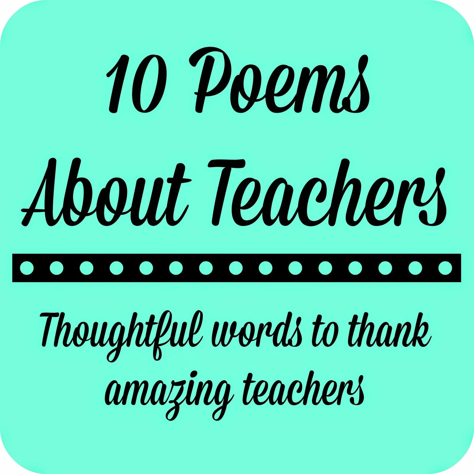 Free Printables - Teacher Appreciation Gifts | A well, Poems and ...