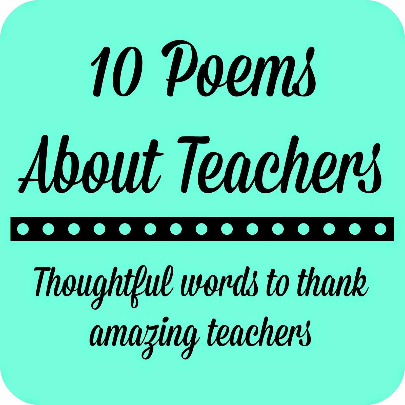 The 25+ best Thank you teacher poems ideas on Pinterest ...