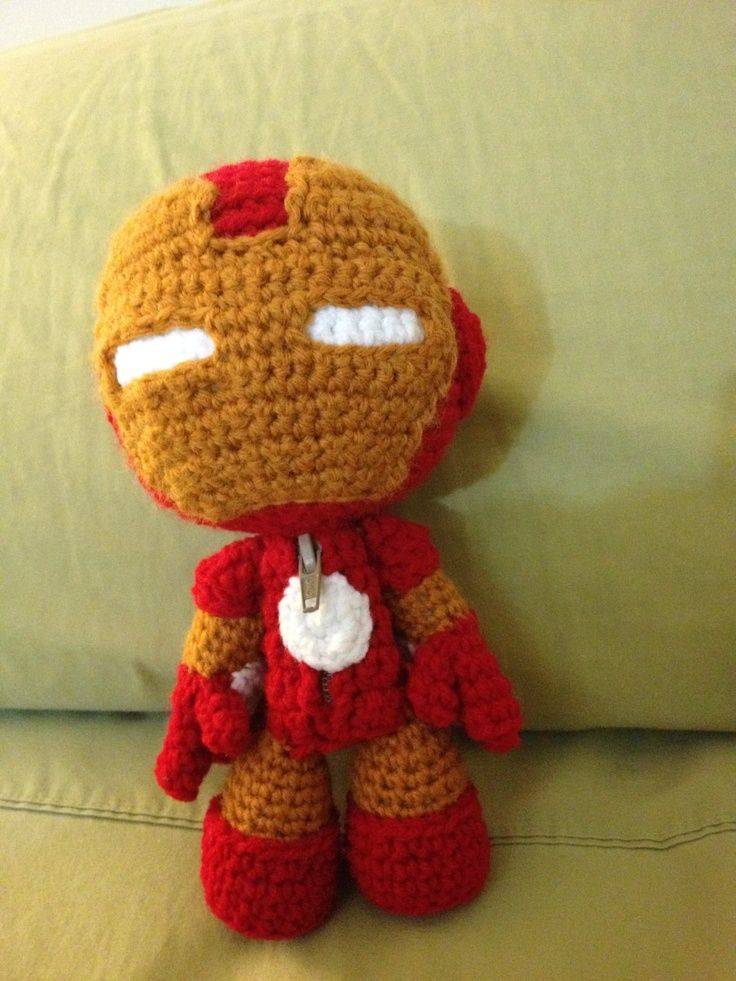crochet iron man | Iron Man Sackboy PATTERN | SUPER HEROS | Pinterest