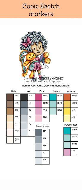 Sweet CAS card plus colors | My Color Combinations | Copic marker