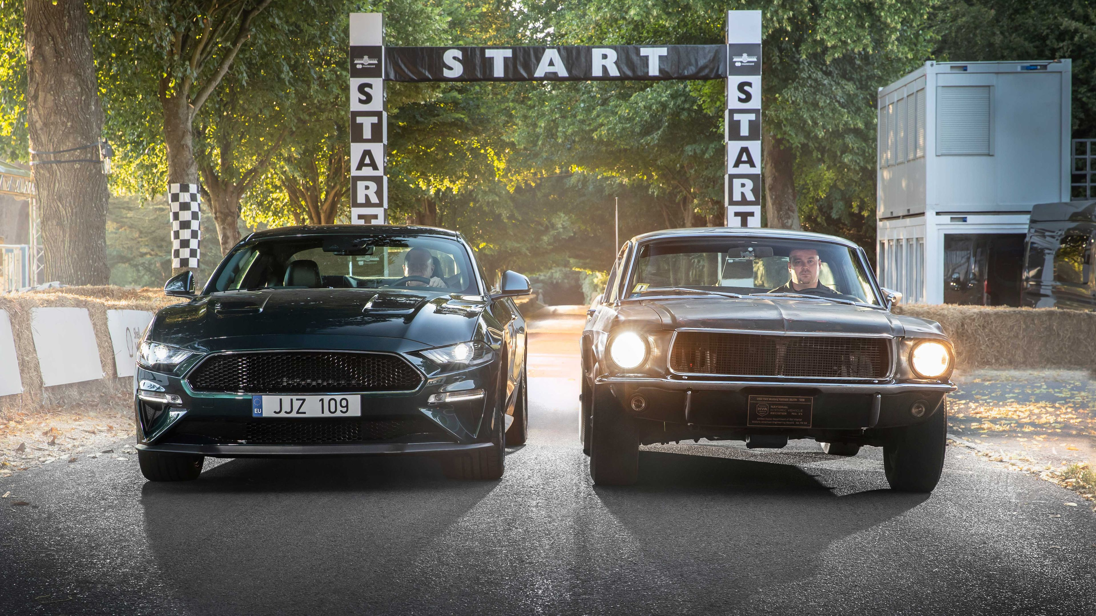 Wallpaper 4k Ford Mustang Bullitt And Gt Fastback 2018 Cars
