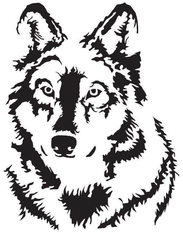 Картинки для выжигания волков