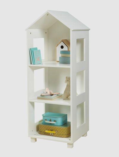 etagre forme maison blanc vertbaudet enfant - Etagere Enfant Deco