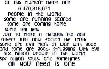 Six Billion Souls And Sometimes All You Need Is One One Tree Hill Ive Always Loved This One