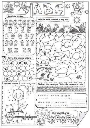 Image Result For Alphabet Worksheets Esl