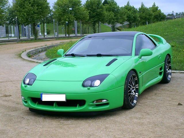 Mitsubishi 3000 GT. I looooove this green version!! Love