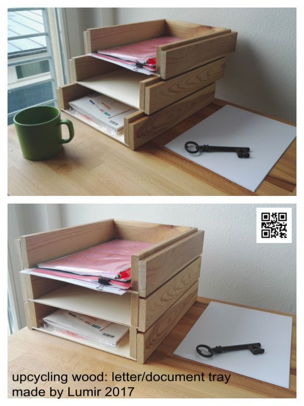 Upcycling Wood Letter Document Tray Diy October 2017 Made By Lumir Gersl Holz Upcycling Brief Dokument Abl Diy Desk Accessories Diy Tray Diy Wood Desk