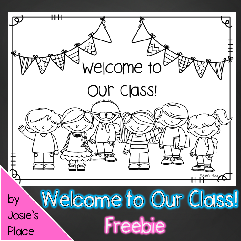 enjoy this welcome to our class coloring sheet perfect for the first day of school included are several grade choices as well preschool pre k