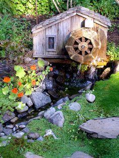 Wooden Water Wheel Plans For Your Garden Pond Or Flower Garden