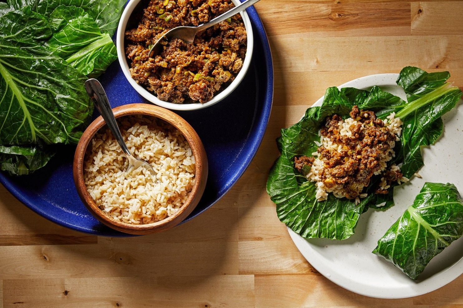 jamaicanspiced beef collard wraps  recipe in 2020