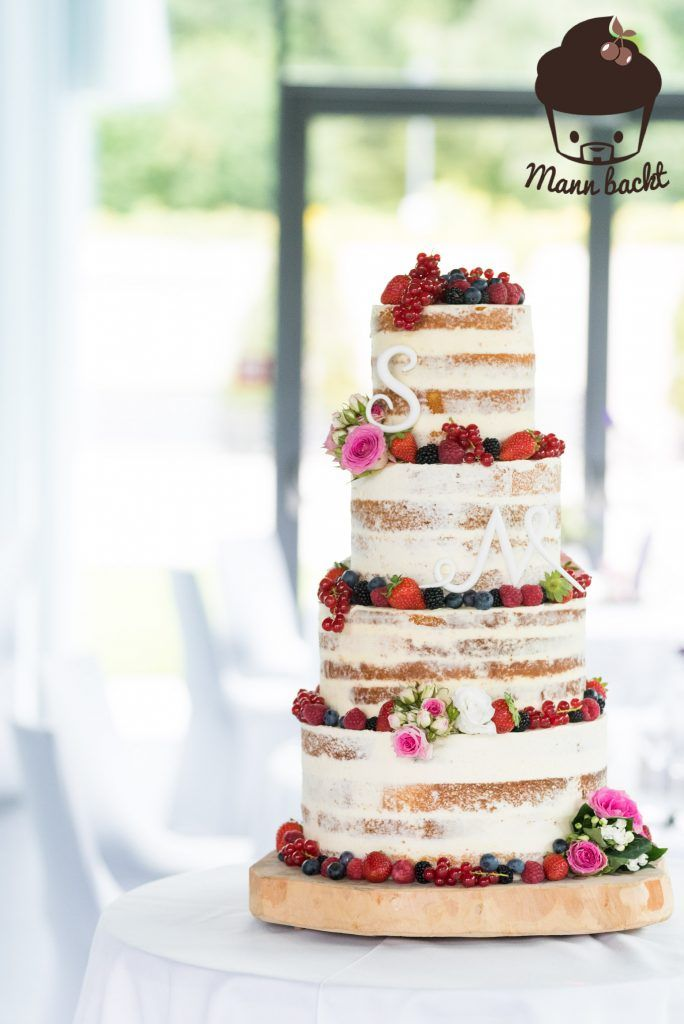 Tutorial Und Rezepte Hochzeitstorte Naked Cake Mit Beeren Und