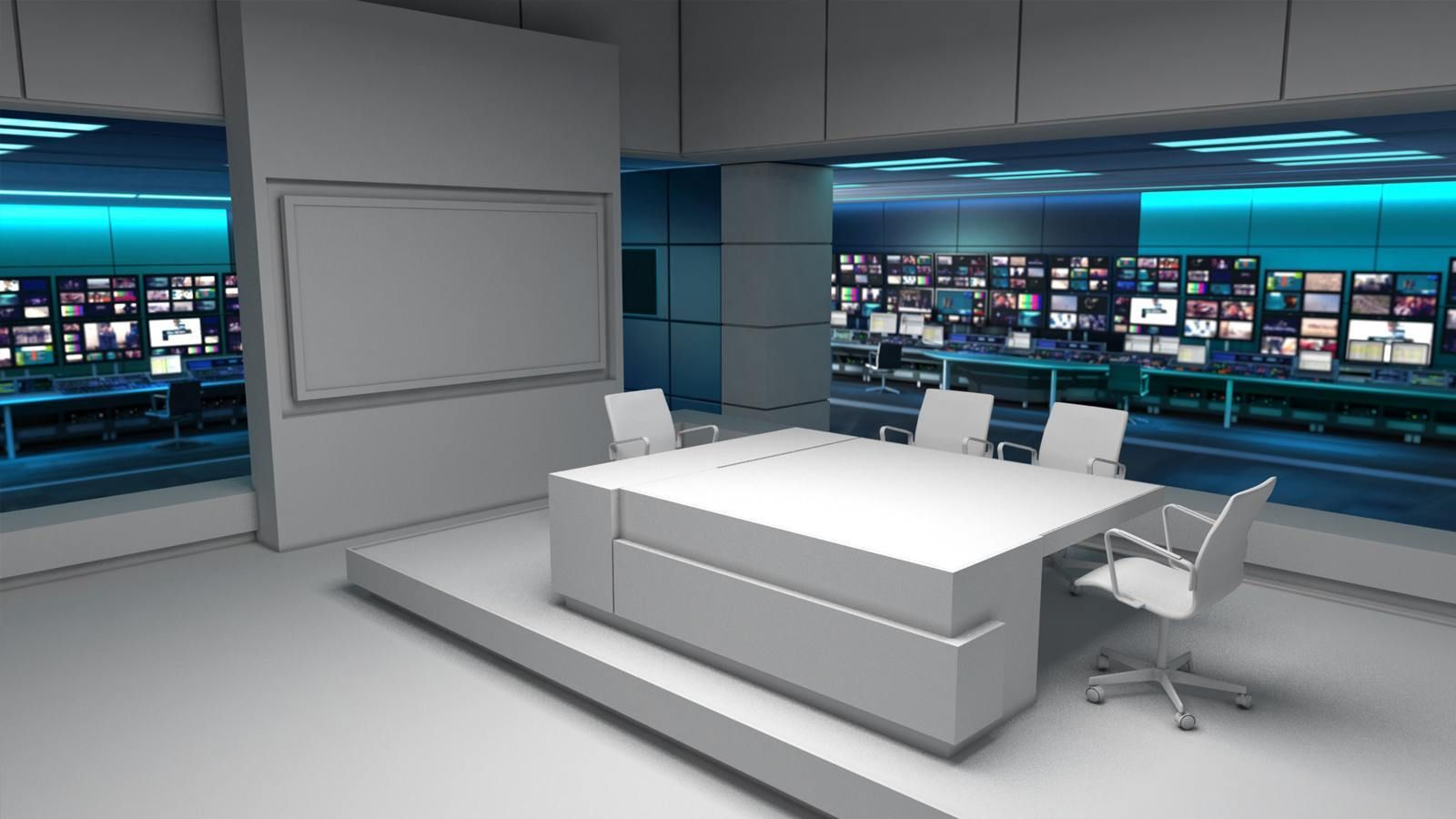 ITV News Virtual Newsroom Set Design By Lightwell