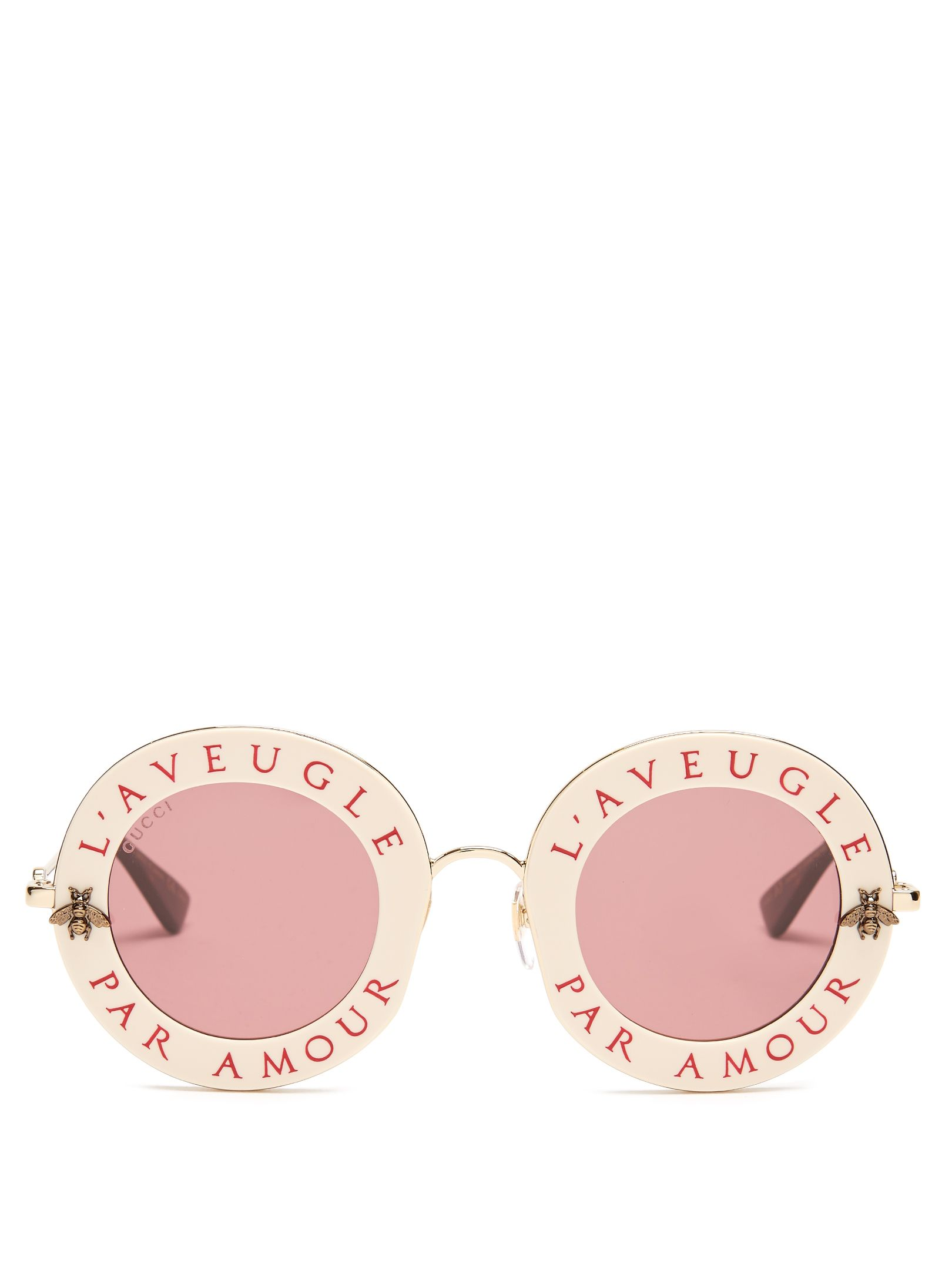 Click here to buy Gucci L\'Aveugle Par Amour metal sunglasses at ...