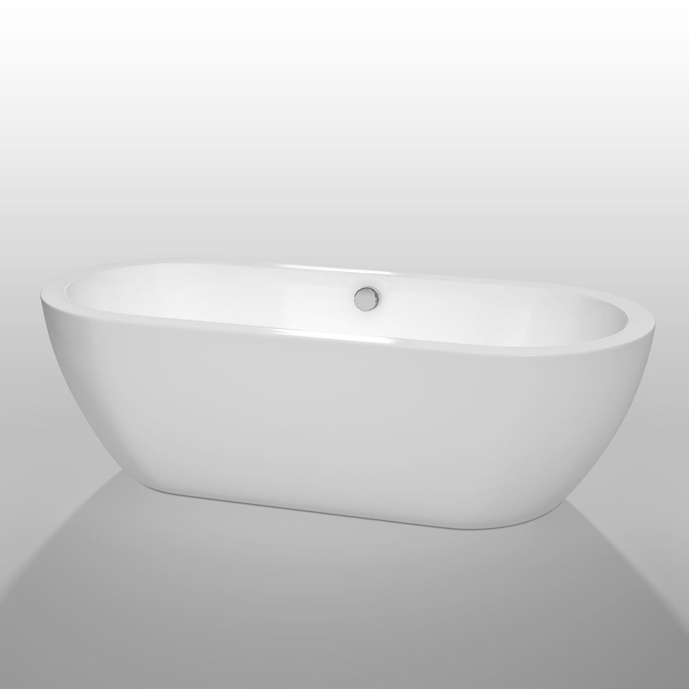 Wyndham Collection Soho 72 Inch Freestanding Soaking Bathtub In