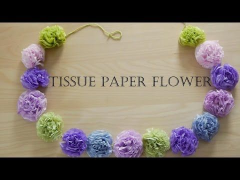 How to make tissue paper flowers easy youtube paper flowers how to make tissue paper flowers easy youtube mightylinksfo