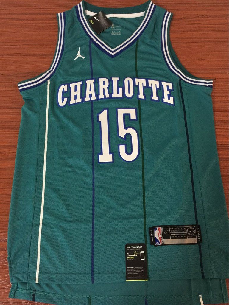 24cd7f2a7 Men 15 Kemba Walker Blue Jersey Charlotte Hornets Jersey Swingman Fanatics