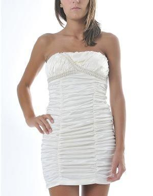 (CLICK IMAGE TWICE FOR DETAILS AND PRICING) Je Veux Ruched Cocktail Dress Cream. Make a glamorous appearance in this sexy sleeveless tube dress. It features a bewitching body fit with ruching on the sides for an extra slimming look.. See More Party Dress at http://www.ourgreatshop.com/Party-Dress-C79.aspx