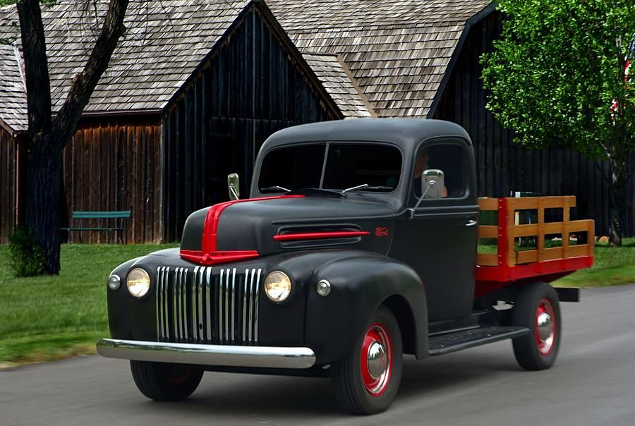 1947 Ford Flat Bed Pickup Truck Photograph 1947 Ford Flat Bed Pickup Truck Fine Art Print Pickup Trucks Classic Cars Trucks Ford Pickup