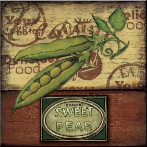 CA-Poster Peas  - Accent Tile