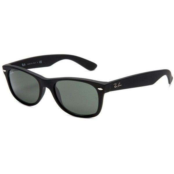 71ad3ff2f2 Pre-owned Ray-ban Wayfarer Black Unisex Sunglasses Rb2132-62255 ( 117) ❤  liked on Polyvore