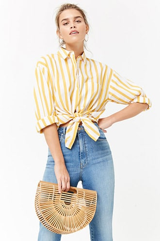 Yellow Striped Blouse