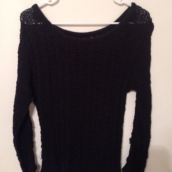 AE Sweater Knitted Sweater. Black American Eagle Outfitters Sweaters Crew & Scoop Necks