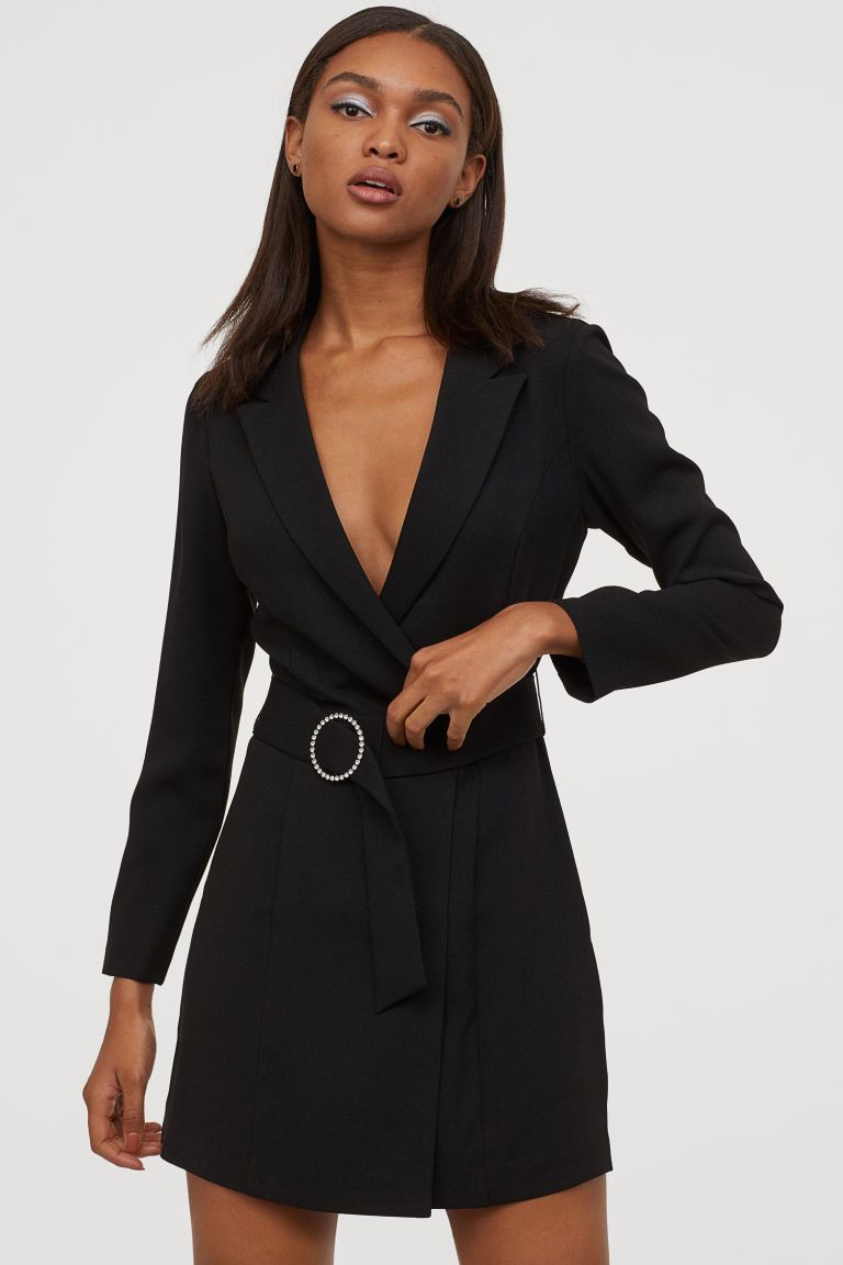 Plate Pidzhak Chernyj Zhenshiny H M Ru Jacket Dress Dresses Black Dress Jacket [ 1152 x 768 Pixel ]
