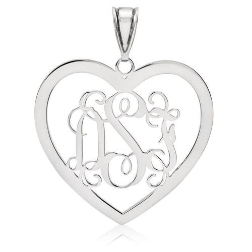 Monogram Pendant 013 Gauge 10k White Gold 10xna497w White Gold Monogram Jewelry Gold