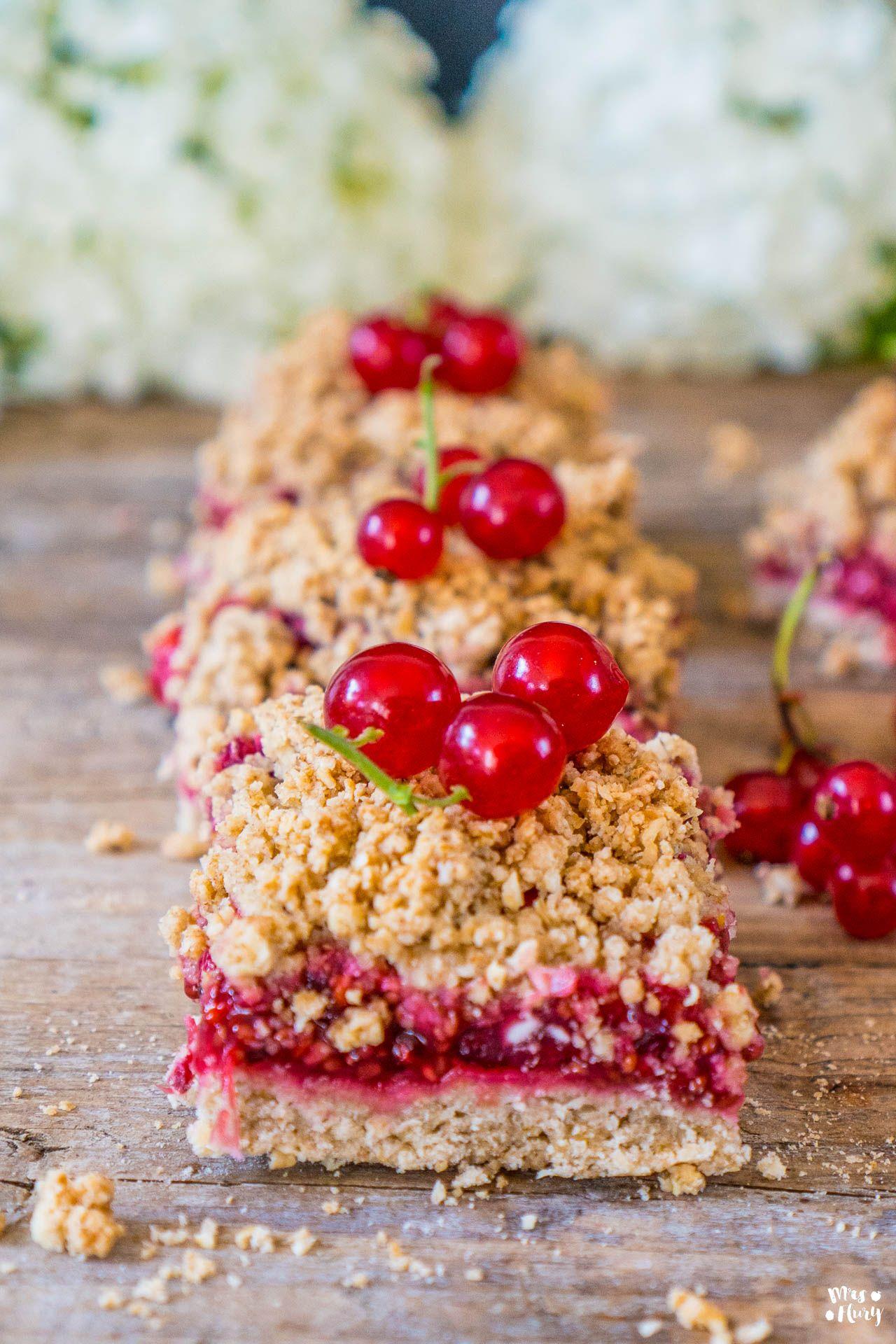 Gesunde Johannisbeeren Streusel Schnitten Vegan Rezept Susse Backerei Lebensmittel Essen Und Dessert Rezepte