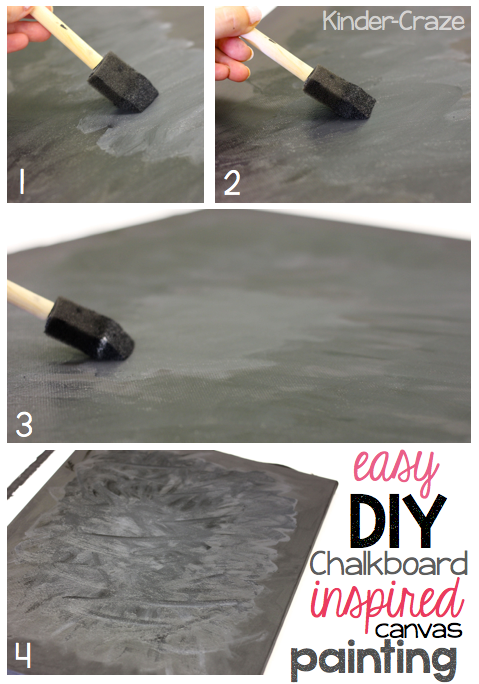 chalkboard inspired painted canvas tutorial