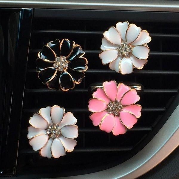 Car Multiflora Cute Flower Air Outlet Fragrant Perfume Clip Air Freshener Diffuser Auto-Lufterfrischer-Clip   Wish