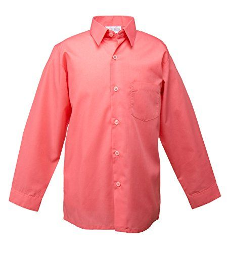 7b10cc730d7 Spring Notion Big Boys  Long Sleeve Dress Shirt 6 Melon S...