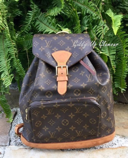 1344524dc971 Authentic Used Louis Vuitton Montsouris GM Backpack in Monogram ...
