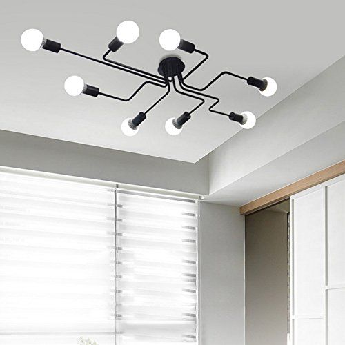 Baycheer Hl420000 Industrial Vintage Styl Wrought Iron La Https Www Amazon Com Dp B01j9juw Metal Ceiling Lighting Industrial Ceiling Lights Ceiling Lights