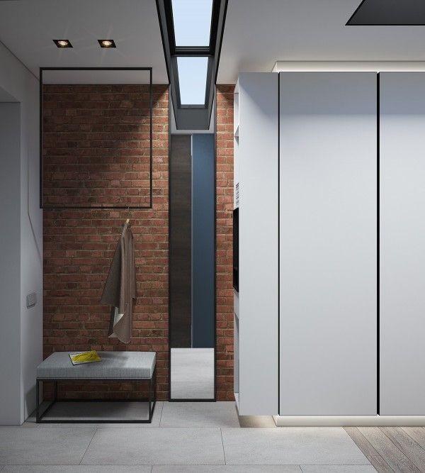 Design a chic modern space around a brick accent wall design sticker