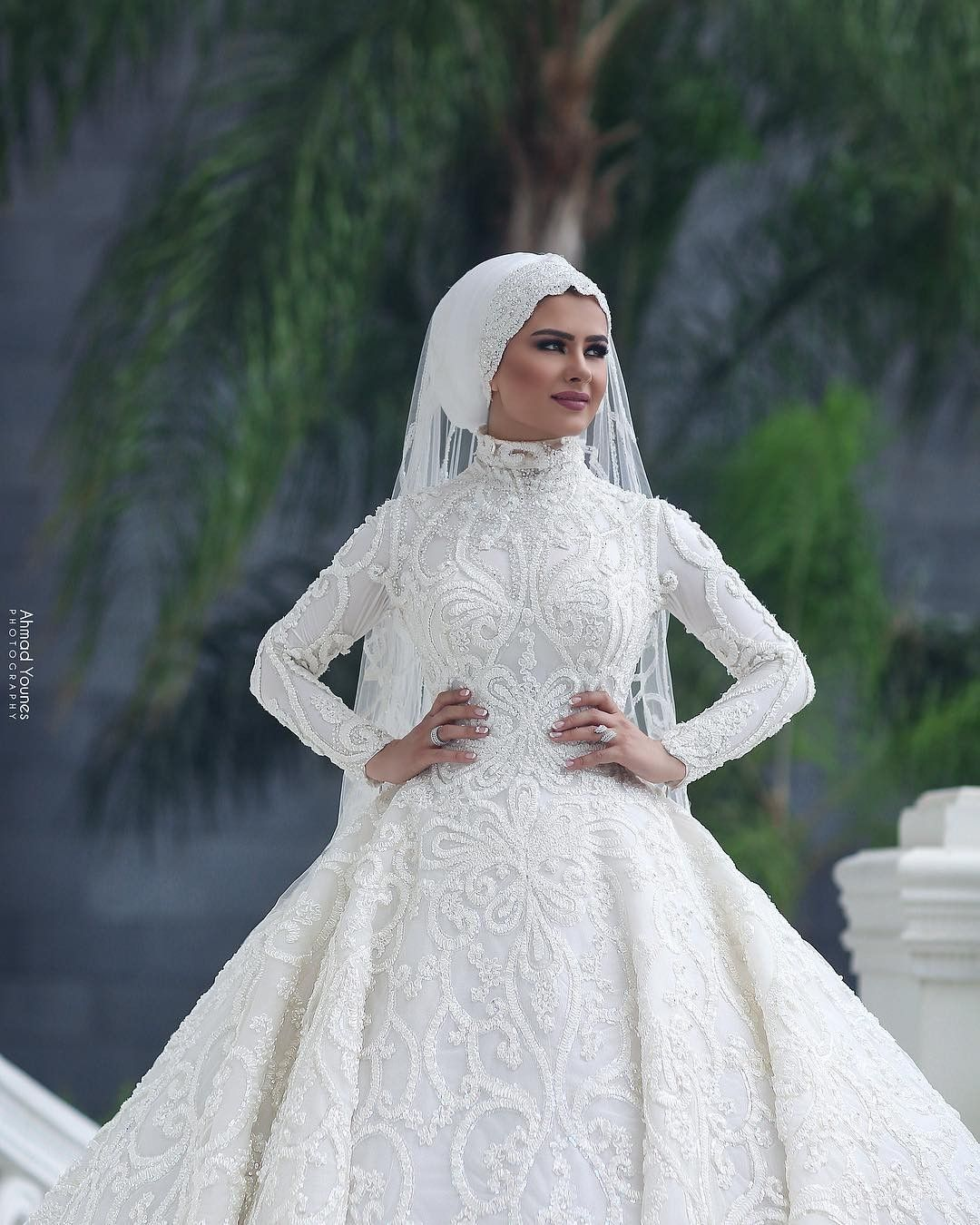 Pin By Ammaarah Behardien On Bridal Hijab حجاب الزفاف Muslim Wedding Dresses Wedding Dresses Wedding Dresses Simple [ 1350 x 1080 Pixel ]