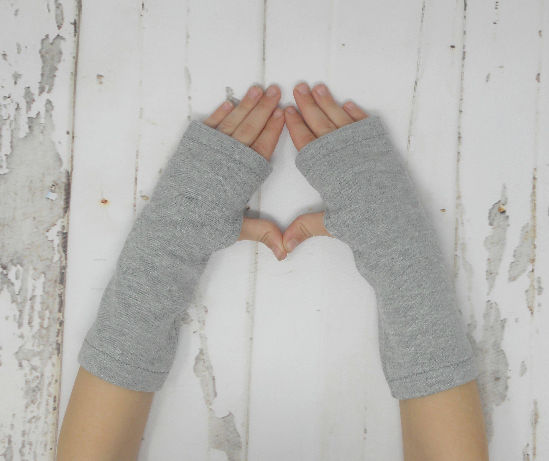 Grey Toddler/Child Arm Warmers, Teal Kids Fingerless Gloves, Jersey ...