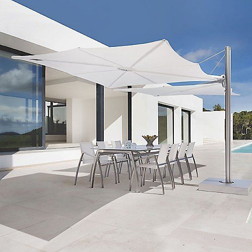 Parasol Aluminium Luxe 3 X 4 M Residence.Spectra Duo Umbrella And Base By Umbrosa At Lumens Com Outdoors In
