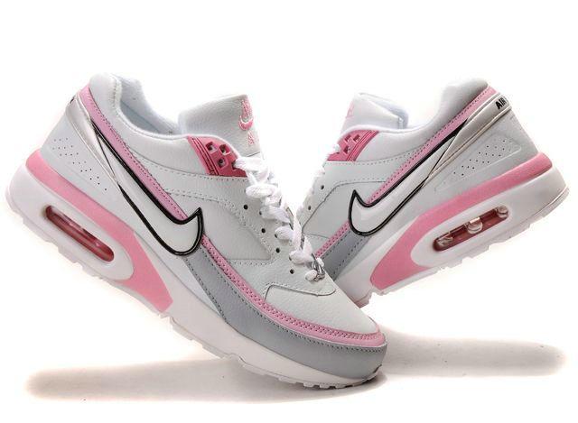 nike air max bw gs schoenen zwart wit roze