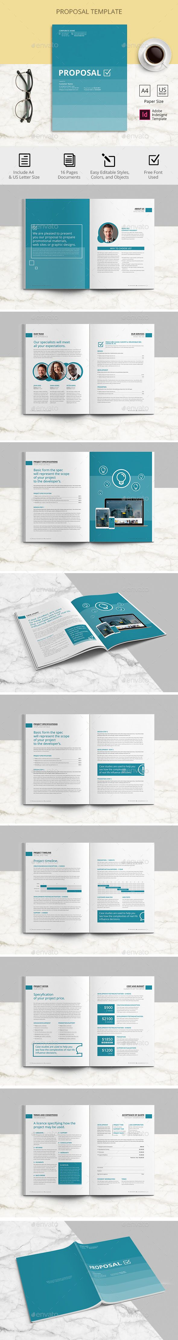 Proposal Adobe Indesign Template Proposals Invoices Stationery